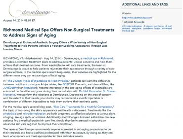 microdermabrasion, dr steven montante, dr neil zemmel, restylane, juvederm, botox, richmond medical spa